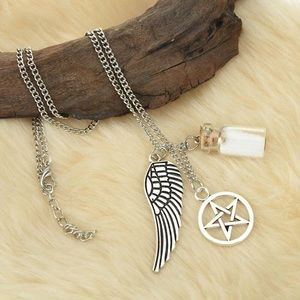 Jewelry - Salt Bottle Pentagram Wing Protection Necklace
